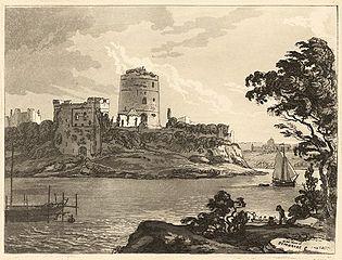 N. W. View of Pembroke Castle
