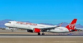 Airbus A321 - An Airbus A321neo operating for Virgin America. Virgin America was the type's first operator.
