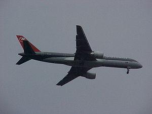 Lake Harriet (Minnesota) - Plane over Lake Harriet, headed for Minneapolis–St. Paul International Airport