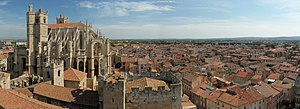 City of Narbonne in south of France, and the S...