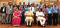 Narendra Modi in a group photograph at an informal interaction with the National Awardee Teachers, on eve of the Teachers' Day, in New Delhi. The Union Minister for Human Resource Development (4).jpg