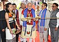 Narendra Modi inaugurating the Hornbill Festival, at Kohima, in Nagaland on December 01, 2014. The Governor of Nagaland, Shri P.B. Acharya and the Chief Minister of Nagaland, Shri T.R. Zeliang are also seen.jpg
