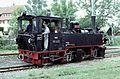 Narrow gauge steam locomotive No 99 633 (Württemberg Tssd) at Ochsenhausen in 1985 (15037981017).jpg