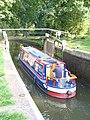 Narrowboat in Newark Lock - geograph.org.uk - 963974.jpg