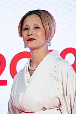 "Natsuki Mari from ""Tora-san, Wish You Were Here"" at Opening Ceremony of the Tokyo International Film Festival 2019 (49014202447).jpg"