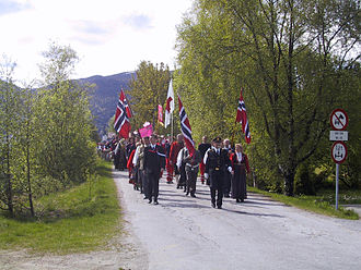 Naustdal - 17th of May celebration