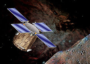 NEAR Shoemaker - Artist's impression of NEAR in orbit around Eros.