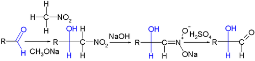 The Nef reaction: chain extension