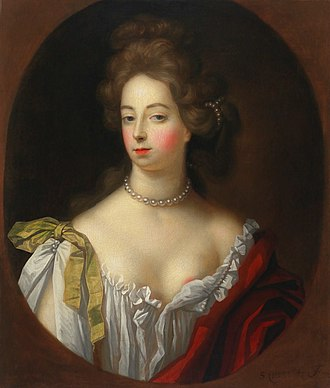 Nell Gwyn - Portrait of Nell Gwyn by Simon Verelst, circa 1680