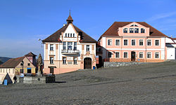 Town hall on the town square