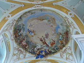 Neresheim Abbey - Image: Neresheim fresko 2