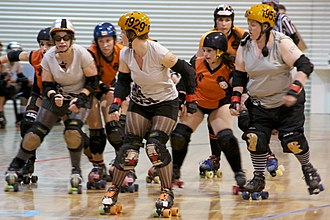 Roller derby - Teams competing in Hobart, Australia, in November 2010