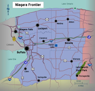 New York - Niagara Frontier region map.png