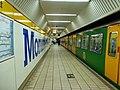 Newcastle upon Tyne westbound platform, Monument Station (geograph 2556386).jpg