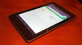 Nexus 7 tablet, met Google Now