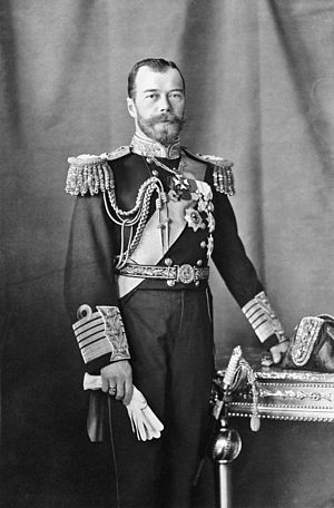 Nicholas II of Russia - Emperor Nicholas II, in a British Royal Navy uniform as an honorary Admiral of the Fleet, 1909