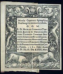 Text des ursprünglichen Epitaphs von Martin Cromer, 1581 (Quelle: Wikimedia)