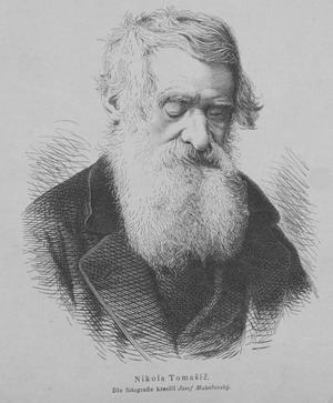 Niccolò Tommaseo - Portrait by J. Mukařovský (1881)