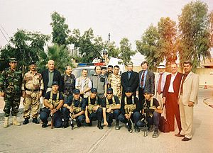 Next Century Foundation - The NCF electoral monitoring team in Red Zone Iraq: setting out for Nineveh Province in 2006.