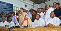 Nirmala Sitharaman addressing the tobacco farmers at Pernamitta Tobacco Platform, in Ongole, Andhra Pradesh. The Minister for Agriculture Food Processing, Marketing and Warehousing of Andhra Pradesh.jpg