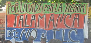 Limón Province - Demonstration against CAFTA-DR in Bribrí town