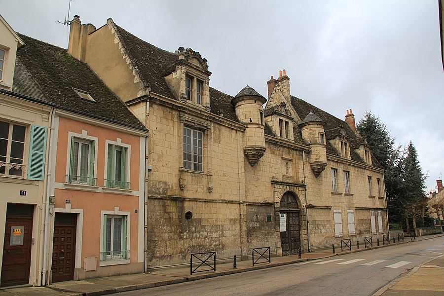 The gate of Arsène Meunier secondary school, formerly the taskmaster's house, in Nogent-le-Rotrou, Eure-et-Loir, France.