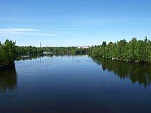 Il fiume Nokianvirta, luogo in cui Fredrik Idestam aprì la sua segheria