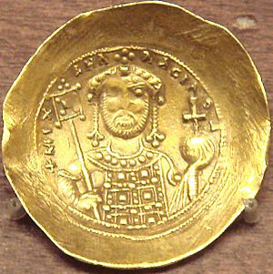 Michael VII Doukas - Nomisma histamenon of Michael VII Doukas. Emperor with attributes.