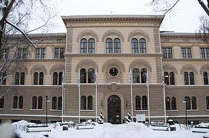Norra Latin - Norra Latin, façade on Drottninggatan