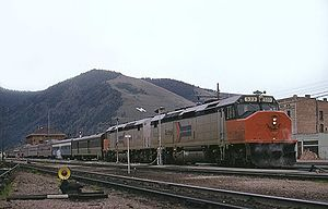 North Coast Hiawatha - The North Coast Hiawatha at Missoula in May 1974