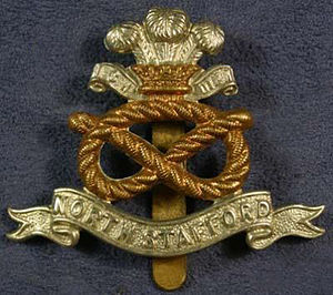 North Staffordshire Regiment - Image: North Staffordshire Regiment Cap Badge