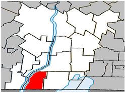 Location within Le Haut-Richelieu RCM.