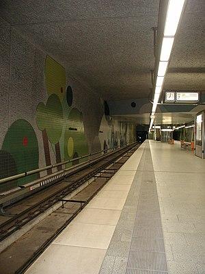 U3 (Nuremberg U-Bahn) - The Undergroundstation Wöhrder Wiese