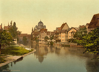 Pegnitz (river) - Image: Nurembergsynagoguec