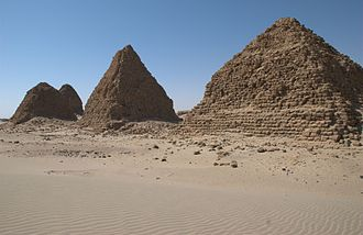 Nuri - View of the pyramids
