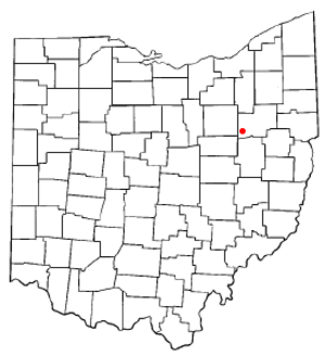 Brewster, Ohio - Image: OH Map doton Brewster