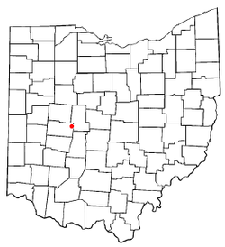 Location of Woodstock, Ohio