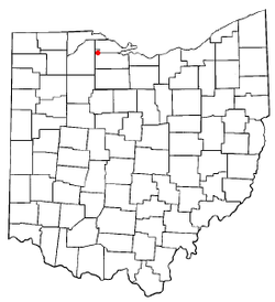 Location of Woodville, Ohio