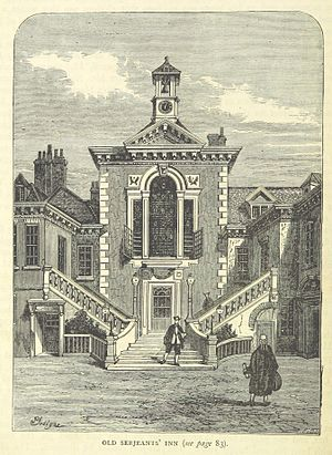 Serjeant's Inn - Serjeants' Inn, off Chancery Lane, in the early 1800s