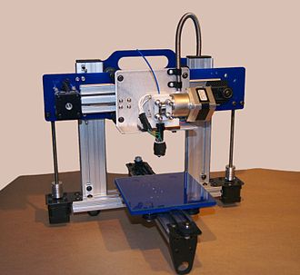 Fused filament fabrication - An ORDbot Quantum 3D printer.