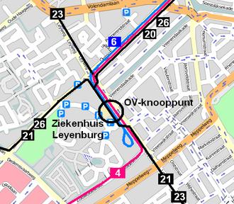 Leyenburg RandstadRail station - Image: OV knooppunt Leyenburg