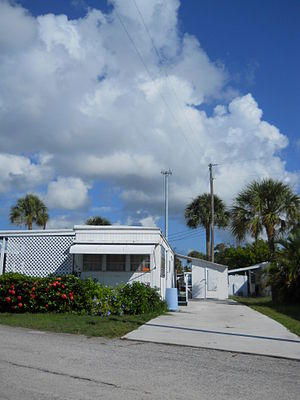 Ocean Breeze, Florida - A typical mobile home in Ocean Breeze