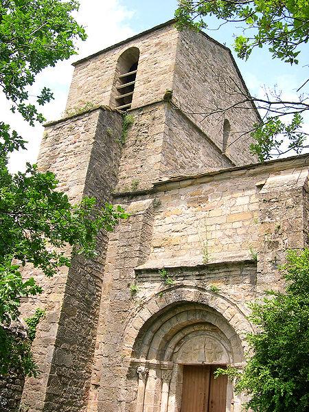 Octon (Hérault) - Portail de Notre-Dame de Roubignac (église romane du XIIe siècle)