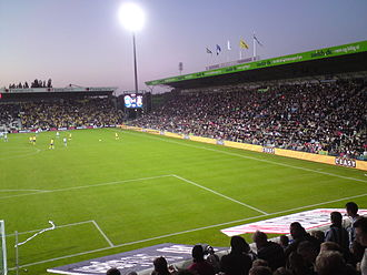 Odense Boldklub - Odense Stadion during a Superliga game between OB and Brøndby IF in 2008.