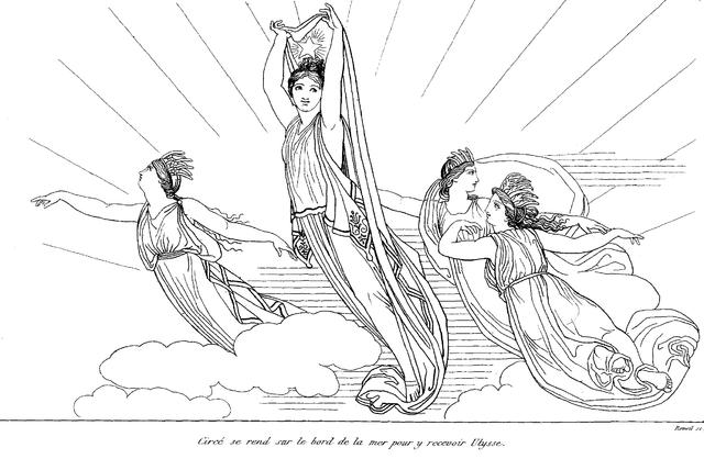 Ilustración de Odisea. John Flaxman (1810)