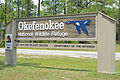 Okefenokee National Wildlife Refuge sign, Charlton County, GA, US.jpg
