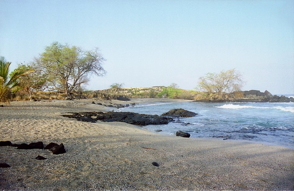 Old Airport Beach Morning, near Kailua-Kona, Hawaii