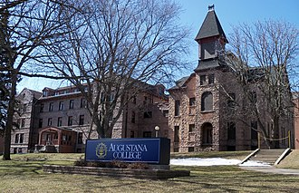 National Register of Historic Places listings in Minnehaha County, South Dakota - Image: Old Main & East Hall Augustana 1