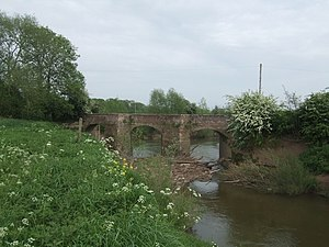 Battle of Powick Bridge - Image: Old Powick Bridge over the River Teme geograph.org.uk 795873