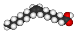 Oleic acid's space-filling structure